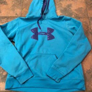 Under armour hooded sweatshirt size large